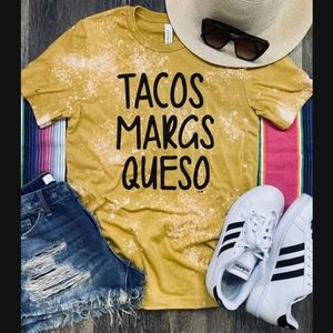 Tacos Margs and Queso Tee